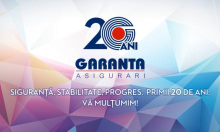 Garanta Asigurări sărbătorește 20 de ani pe piața din România