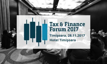 28 noiembrie, Timisoara, Tax & Finance Forum
