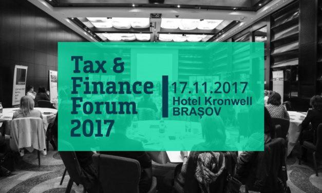 17 noiembrie,  Brasov, Tax & Finance Forum