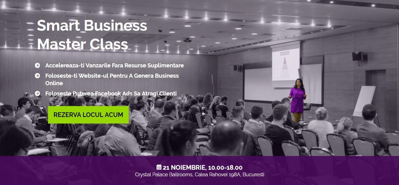 21 noiembrie, Bucuresti, Smart Business Master Class