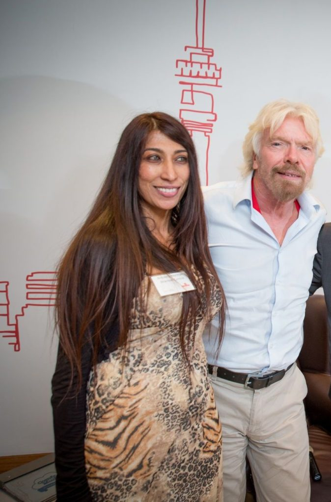 Antoinia Norman and Richard Branson