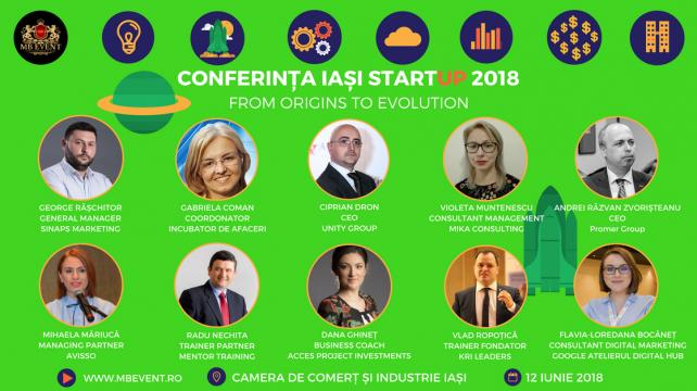 12 Iunie – Conferința Iași StartUP 2018 – From Origins to Evolution