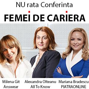 """Participa la conferinta """"Femei de cariera"""" – editia a IX-a. Profita de super pretul de Very Early Bird!"""