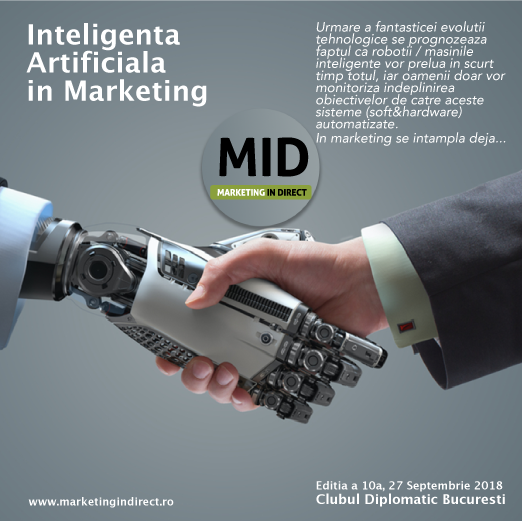 27 Septembrie Marketing in Direct – Sky is the limit? NO limit cand vorbim despre Inteligenta Artificiala in Marketing