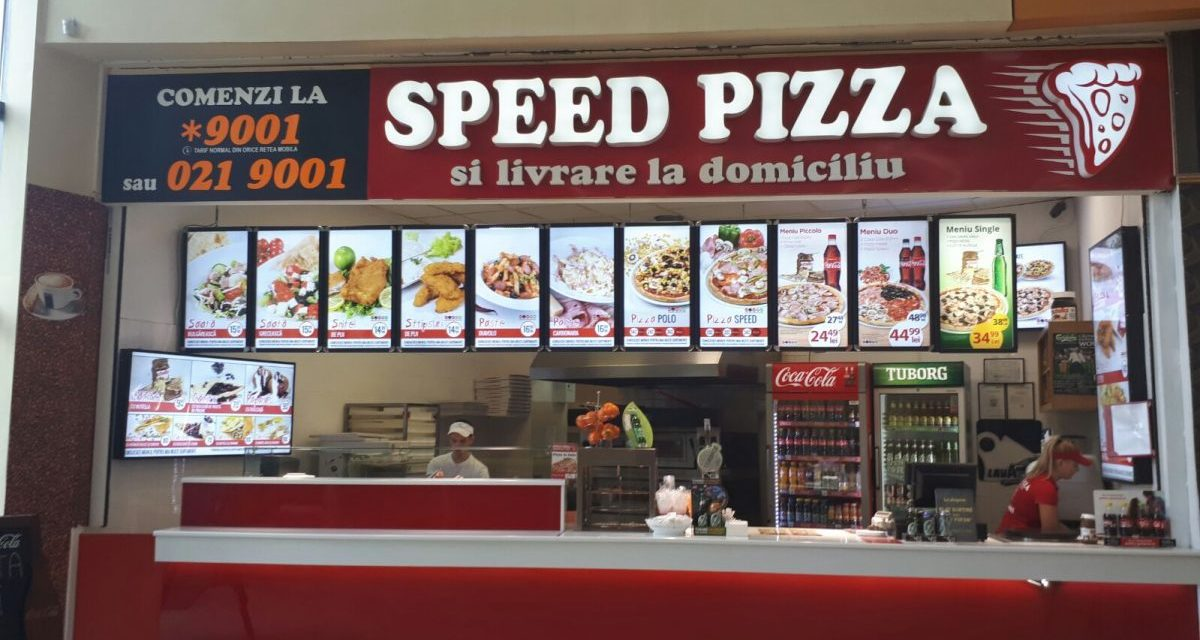 Speed Pizza asigură un serviciu rapid de livrări pizza la domiciliu