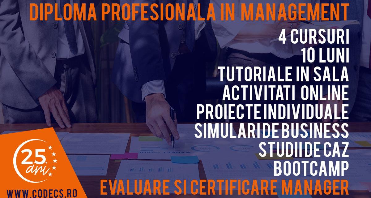Februarie 2019 – Diploma Profesionala in Management CODECS