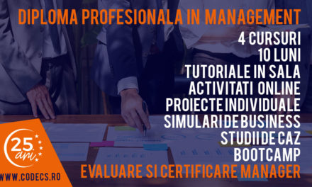 Februarie 2019 – Diploma Profesionala in Management CODECS