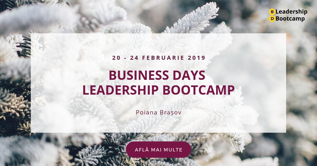 20-24 februarie 2019 – Leadership BOOTCAMP