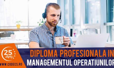 Martie – Iunie 2019 – Diploma Profesionala in Managementul Operatiunilor CODECS