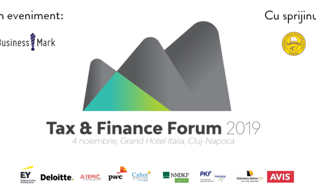 Tax & Finance Forum 2019 pe 4 noiembrie