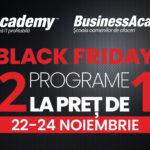 Marea ofertă de Black Friday la LINK Academy și BusinessAcademy: 2 programe la preț de 1